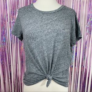 Madewell Crew Neck T-Shirt Heathered Pewter